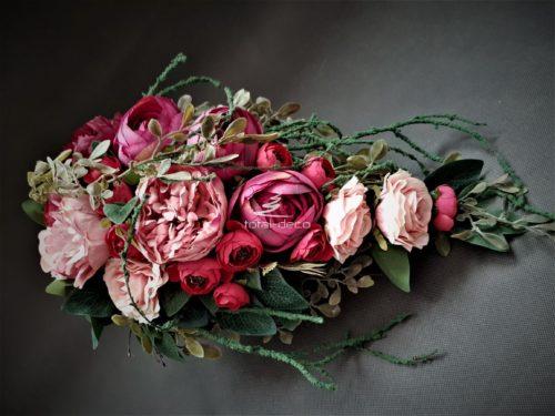 wiosenna dekoracja grobu/stroiki na wszystkich świętych