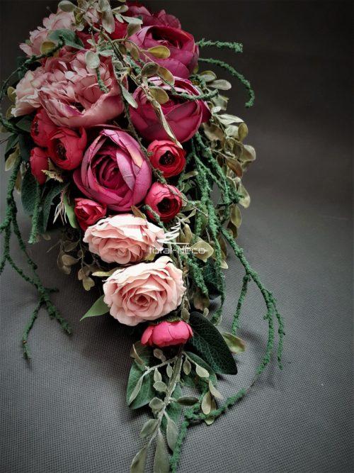 stroik na grób różowy-e sklep ze stroikami na cmentarz