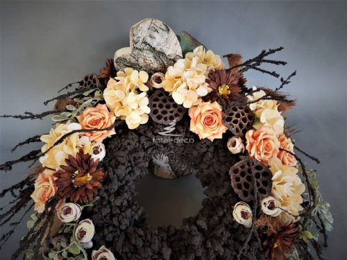 dekoracje nagrobne/wianki na cmentarz z sztucznych kwiatów