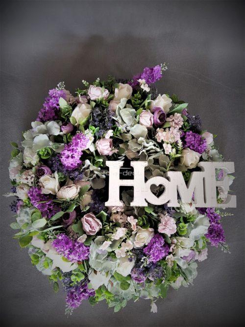 kwiatowy stroik wieniec dekoracyjny