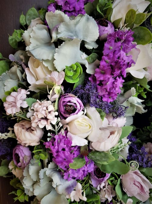 dekoracje kwiatowe-wianki sztuczne