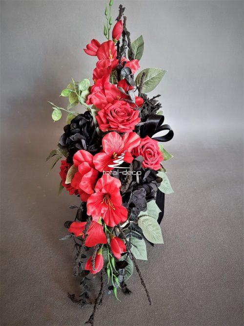 oryginalna kompozycja kwiatowa na cmentarz/stroik na grób