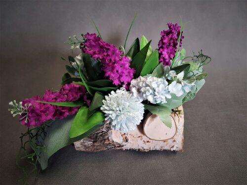 efektowny stroiczek na cmentarz/kompozycja kwiatowa na grób