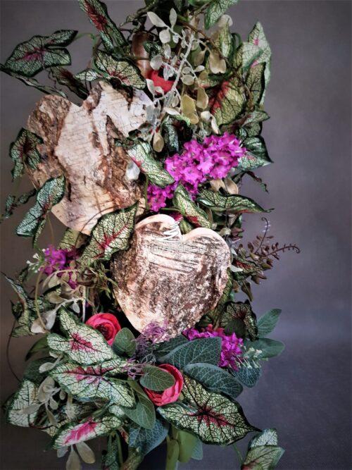 bukiet/dekoracja nagrobna w nowoczesnym wydaniu
