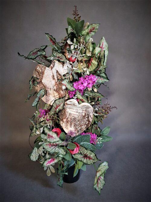 modny bukiet do wazonu na cmentarz