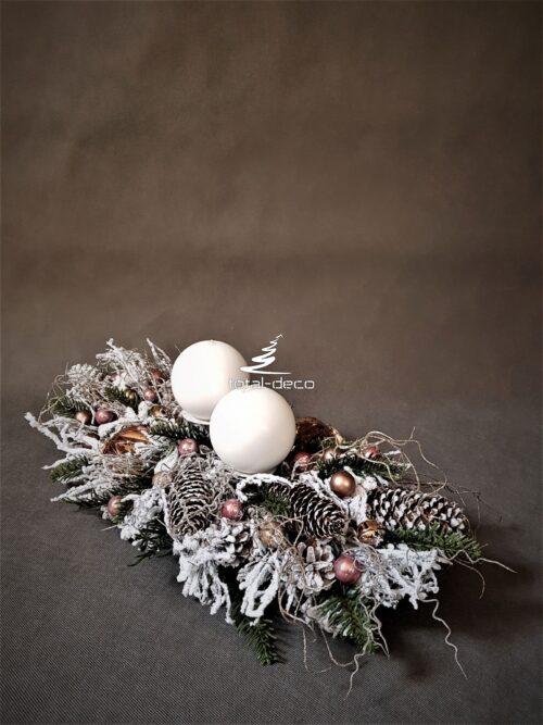 stroik bożonarodzeniowy/nowoczesna kompozycja świąteczna