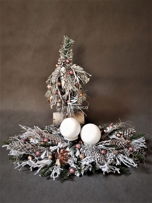 stroik i choinka świąteczna/dekoracje bożonarodzeniowe