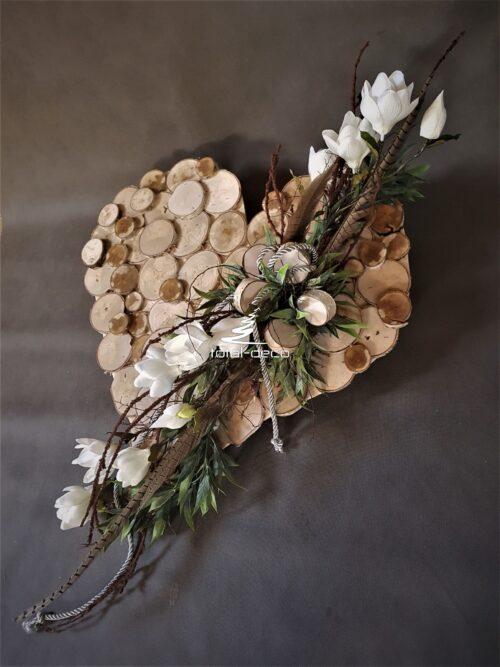 stroik na cmentarz w kształcie serca/serce na grób