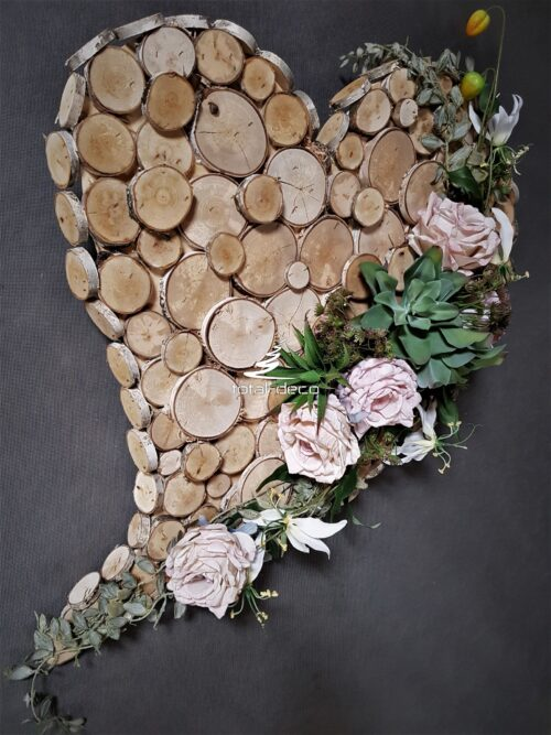 stroik nagrobny w kształcie serca/serce na cmentarz