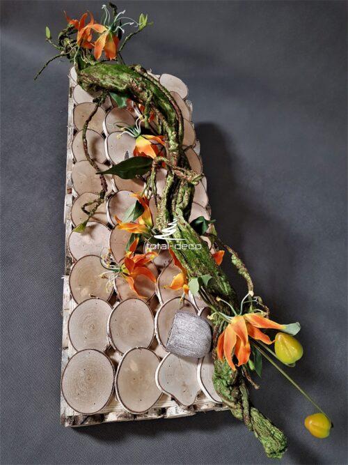 nowoczesna kompozycja na cmentarz/stroik na Wszystkich Świętych