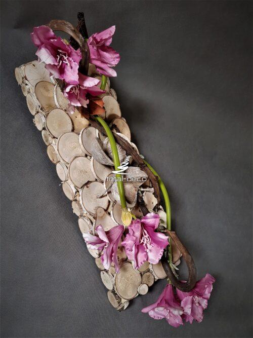 nowoczesna dekoracja nagrobna/stroik na Wszystkich Świętych
