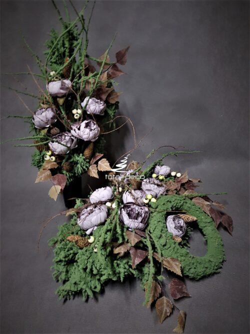 nowoczesny zestaw na cmentarz/eleganckie dekoracje na wszystkich świętych