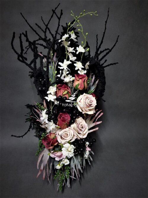 nowoczesne kompozycje na wszystkich świętych/piękny bukiet na cmentarz