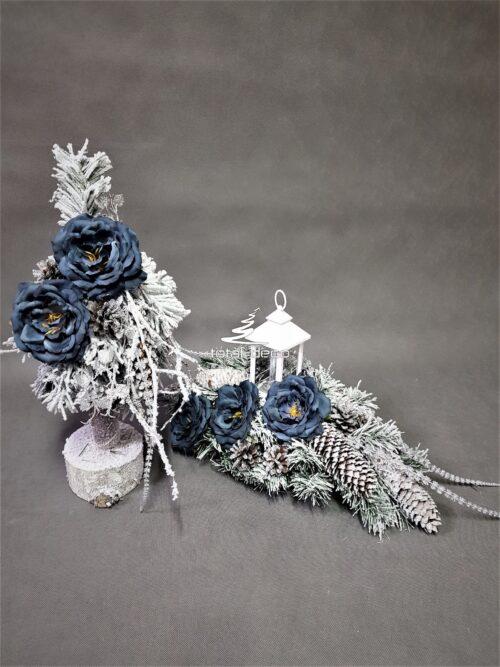 choinka i stroik na cmentarz