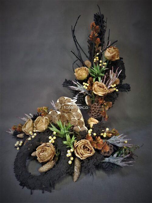 dekoracja na cmentarz/bukiety i stroiki na grób
