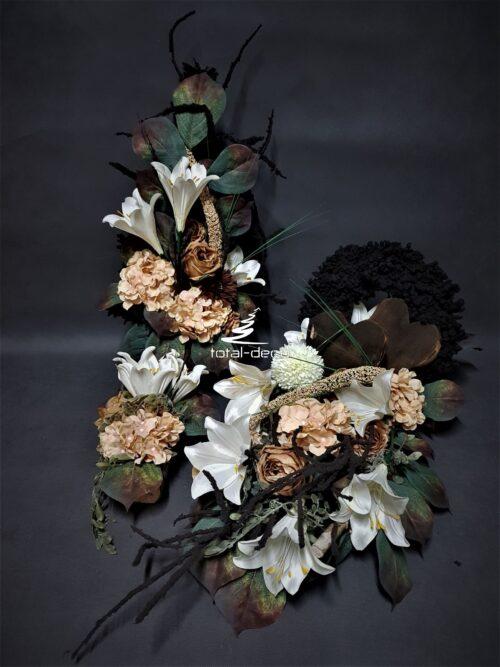 kompozycje kwiatowe na cmentarz/stroiki na grób