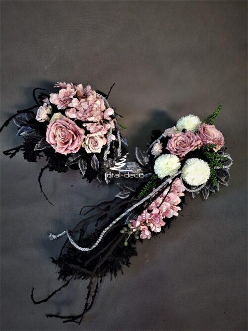 kompozycje na cmentarz ze sztucznych kwiatów/wiązanka&bukiet