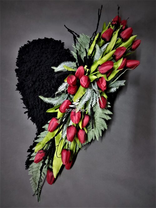 kompozycja z tulipanów na cmentarz/stroik na grób