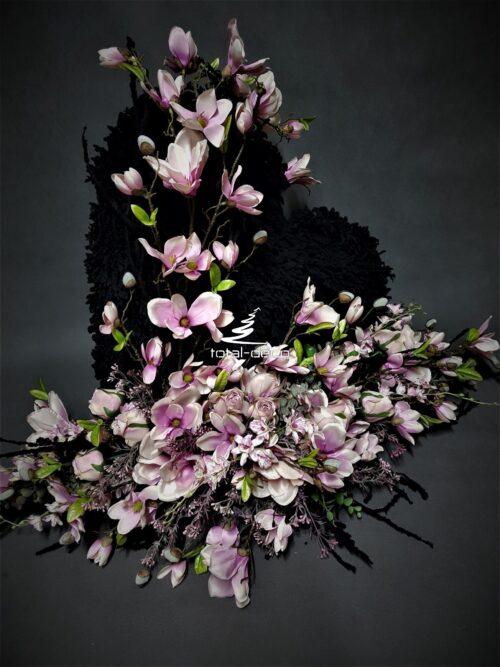 serce z kwiatów na pomnik/kompozycje serce na cmentarz