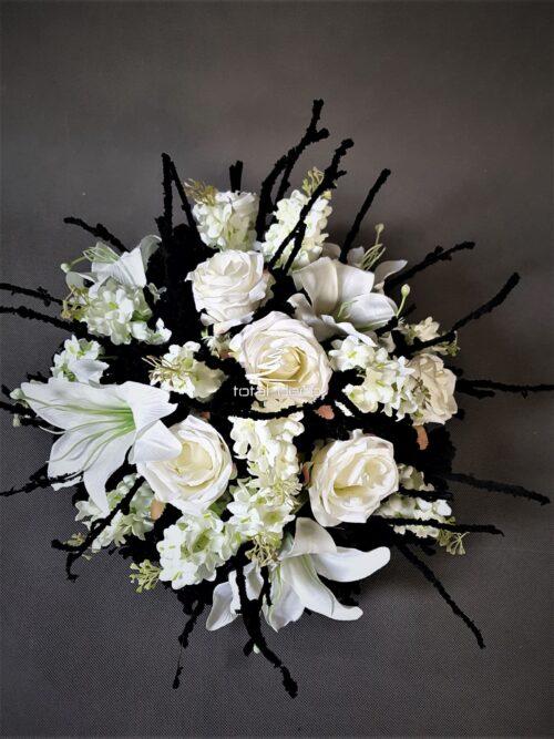 wiązanka na cmentarz z białych kwiatów galeria