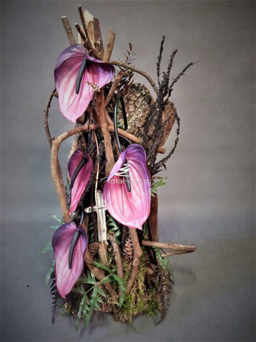 kompozycje kwiatowe na cmentarz/stroik na grób